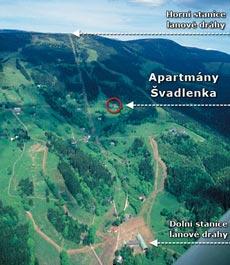 Umístění chaty Švadlenka